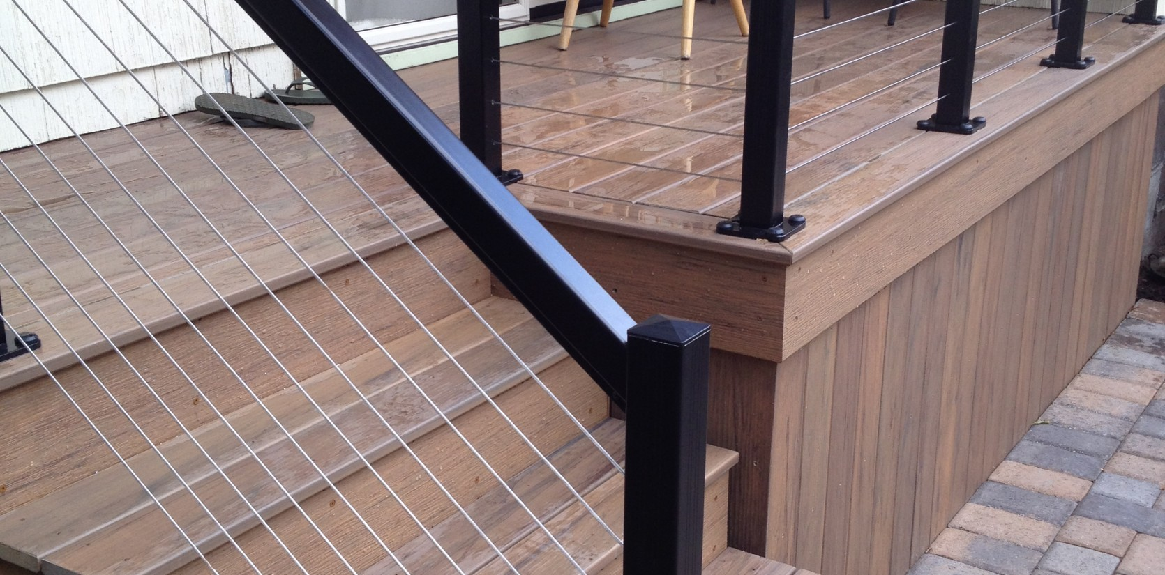 Three Rivers custom composite deck with railing