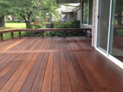 Three Rivers custom premium hardwood deck