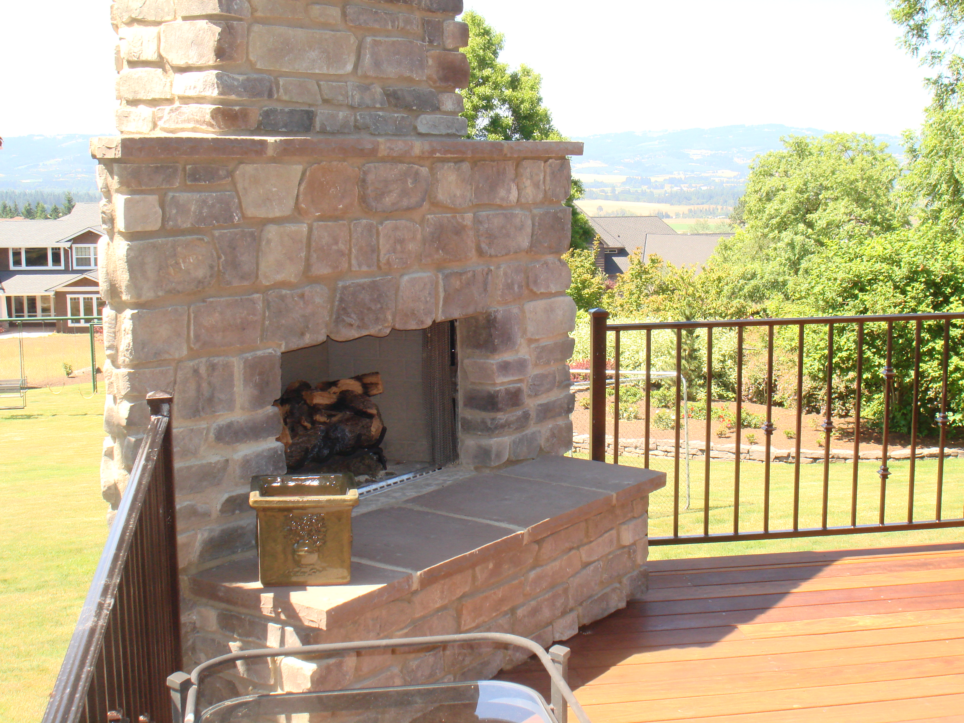 Outdoor Fireplaces By Three Rivers Portland Or