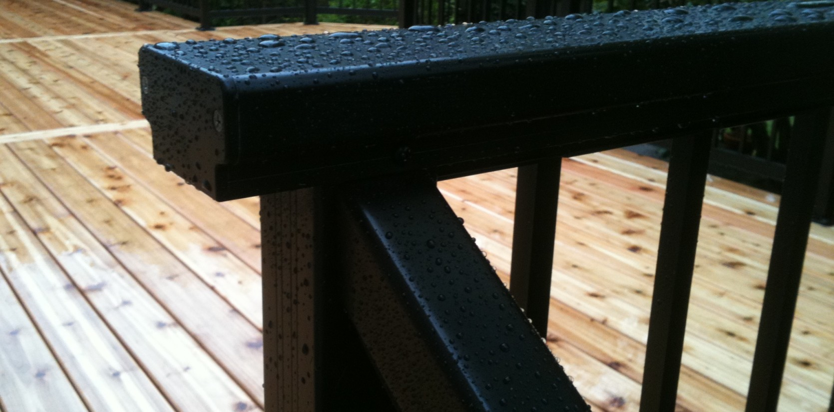 Three Rivers custom deck with railing