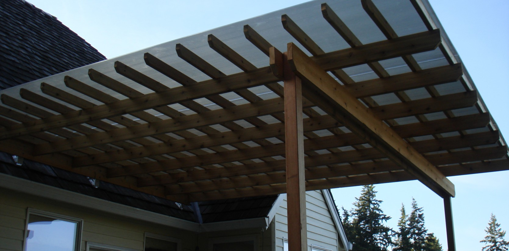 Overhangs by three rivers custom decks portland or for Balcony overhang